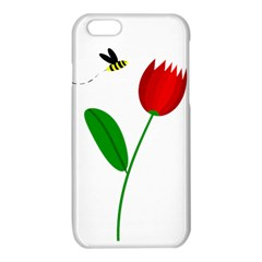 Red tulip and bee iPhone 6/6S TPU Case