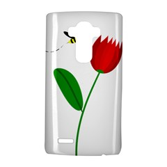 Red Tulip And Bee Lg G4 Hardshell Case