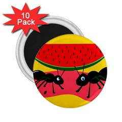 Ants and watermelon  2.25  Magnets (10 pack)