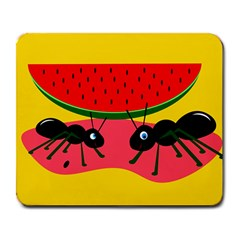 Ants and watermelon  Large Mousepads