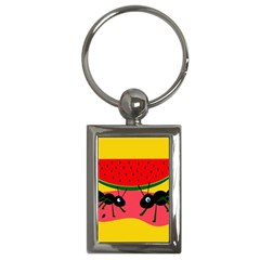 Ants and watermelon  Key Chains (Rectangle)