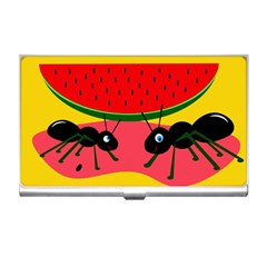 Ants and watermelon  Business Card Holders
