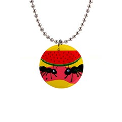 Ants and watermelon  Button Necklaces