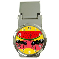 Ants and watermelon  Money Clip Watches