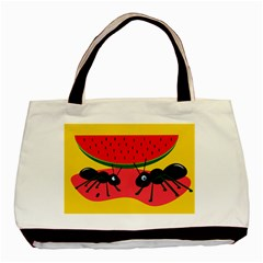 Ants and watermelon  Basic Tote Bag