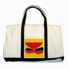 Ants and watermelon  Two Tone Tote Bag