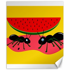 Ants and watermelon  Canvas 8  x 10