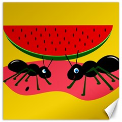 Ants and watermelon  Canvas 12  x 12