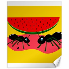 Ants and watermelon  Canvas 16  x 20