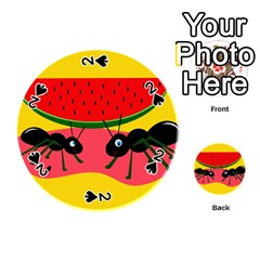 Ants And Watermelon  Playing Cards 54 (round)