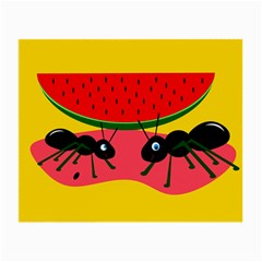 Ants and watermelon  Small Glasses Cloth (2-Side)