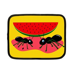Ants and watermelon  Netbook Case (Small)