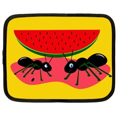 Ants and watermelon  Netbook Case (Large)