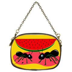 Ants and watermelon  Chain Purses (Two Sides)