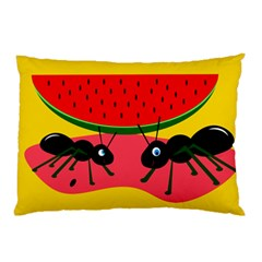 Ants and watermelon  Pillow Case