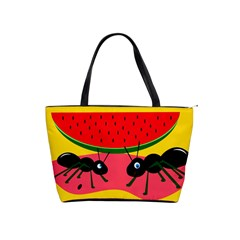 Ants and watermelon  Shoulder Handbags