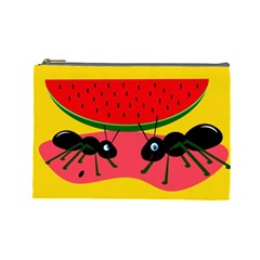 Ants and watermelon  Cosmetic Bag (Large)