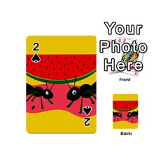 Ants and watermelon  Playing Cards 54 (Mini)
