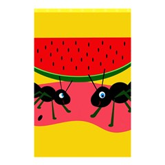 Ants and watermelon  Shower Curtain 48  x 72  (Small)