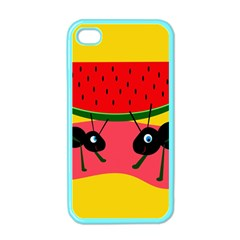 Ants and watermelon  Apple iPhone 4 Case (Color)