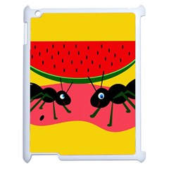 Ants and watermelon  Apple iPad 2 Case (White)