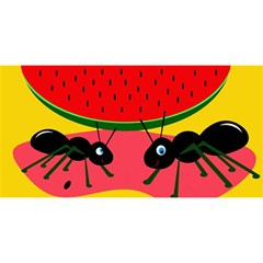 Ants and watermelon  YOU ARE INVITED 3D Greeting Card (8x4)