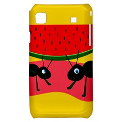 Ants and watermelon  Samsung Galaxy S i9000 Hardshell Case