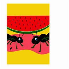 Ants and watermelon  Large Garden Flag (Two Sides)