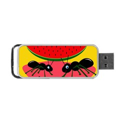 Ants and watermelon  Portable USB Flash (Two Sides)