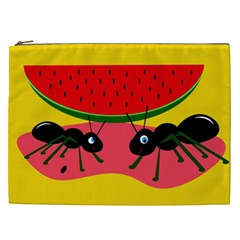 Ants and watermelon  Cosmetic Bag (XXL)