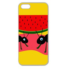 Ants and watermelon  Apple Seamless iPhone 5 Case (Clear)