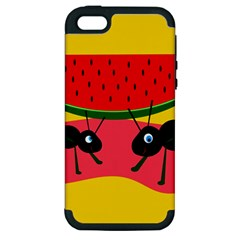 Ants and watermelon  Apple iPhone 5 Hardshell Case (PC+Silicone)