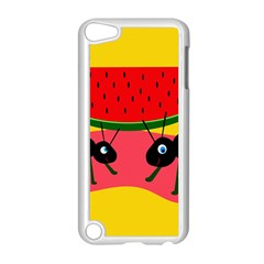 Ants and watermelon  Apple iPod Touch 5 Case (White)