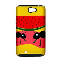 Ants and watermelon  Samsung Galaxy Note 2 Hardshell Case (PC+Silicone)
