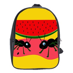 Ants and watermelon  School Bags (XL)