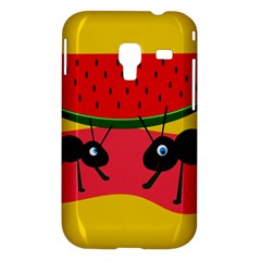 Ants and watermelon  Samsung Galaxy Ace Plus S7500 Hardshell Case