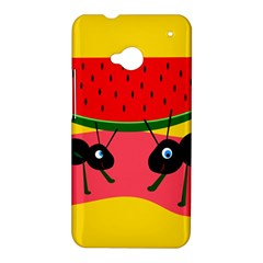 Ants and watermelon  HTC One M7 Hardshell Case
