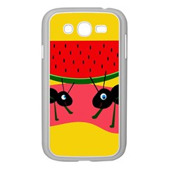 Ants and watermelon  Samsung Galaxy Grand DUOS I9082 Case (White)