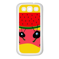 Ants and watermelon  Samsung Galaxy S3 Back Case (White)