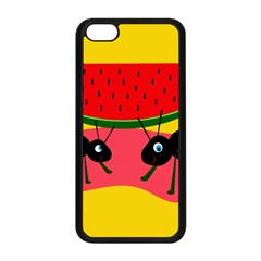 Ants and watermelon  Apple iPhone 5C Seamless Case (Black)