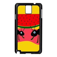 Ants and watermelon  Samsung Galaxy Note 3 N9005 Case (Black)