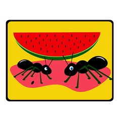 Ants And Watermelon  Double Sided Fleece Blanket (small)