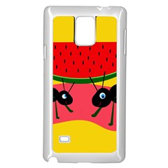 Ants and watermelon  Samsung Galaxy Note 4 Case (White)