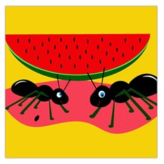 Ants and watermelon  Large Satin Scarf (Square)