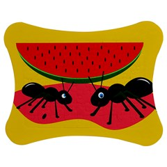 Ants and watermelon  Jigsaw Puzzle Photo Stand (Bow)