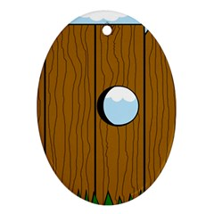 Over the fence  Ornament (Oval)
