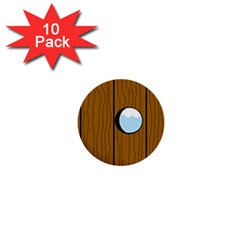 Over the fence  1  Mini Buttons (10 pack)