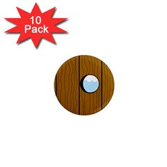 Over the fence  1  Mini Magnet (10 pack)