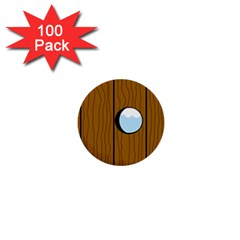 Over the fence  1  Mini Buttons (100 pack)