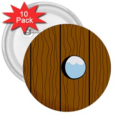 Over the fence  3  Buttons (10 pack)
